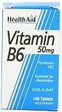 HealthAid Vitamin B6 (Pyridoxine HCl) 50mg - 100 Tablets