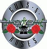 "Guns N' Roses Hard Rock Band Music Bumper Sticker 5"" x 5"""