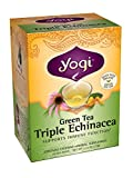 Yogi Teas Triple Echinacea Green Tea, 16 Count (Pack of 6)