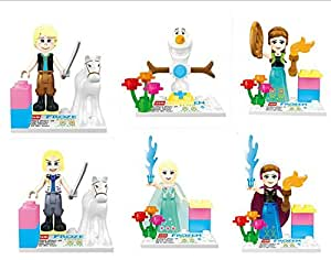 brinquedos Anna Elsa Frozenned toys DIY bricks baby toy: Toys & Games
