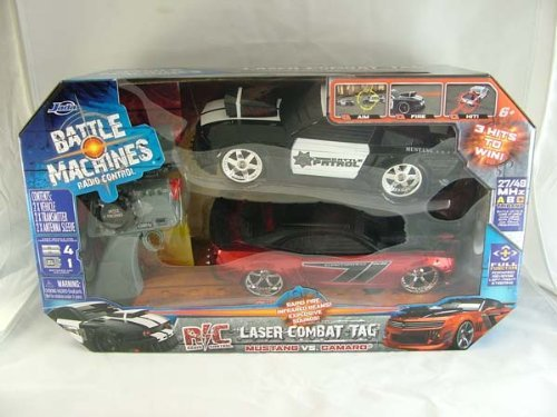 Battle Machines Radio Control Laser Combat Tag Police Ford Mustang VS Chevy Camaro (Battle Machines compare prices)