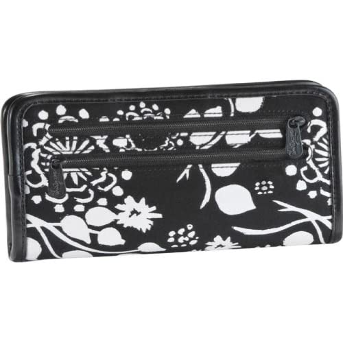 Thirty One Timeless Wallet in Black Floral Brushstrokes at Amazon