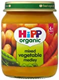 HiPP Organic Stage 1 From 4 Months Mixed Vegetable Medley 6 x 125 g (Pack of 2, Total 12 Pots)