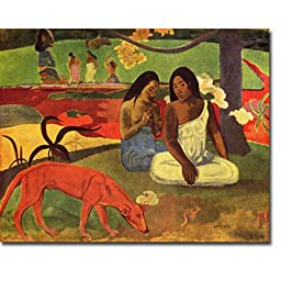 Arearea (Joyfulness) by Paul Gauguin Premium Gallery-Wrapped Canvas Giclee Art (Ready to Hang)