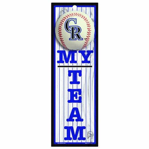 "MLB Colorado Rockies 4-by-13 Wood ""My Team"" Sign"