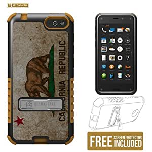 Beyond Cell TriShield Series Case with 3 Protective Layers for Amazon Fire Phone (AT&T) - Non-Retail Packaging - California Flag Design