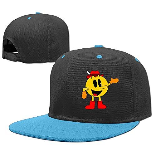 NCKG Arcade Game PAC-MAN Fans Youth Baby Baseball-caps Mesh Back, RoyalBlue (Womens Ghostly Wig)