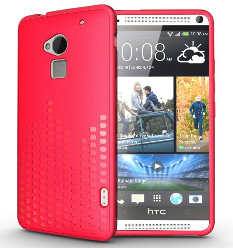 Tudia Ultra Slim Melody Tpu Bumper Protective Case For Htc One Max / Htc T6 (Pink)