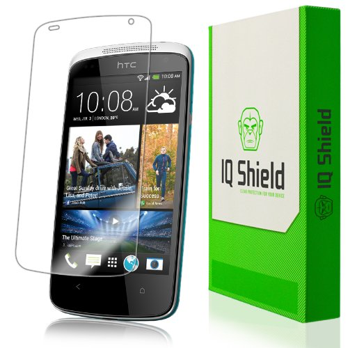 Iq Shield Liquidskin - Htc Desire 500 Screen Protector - High Definition (Hd) Ultra Clear Phone Smart Film - Premium Protective Screen Guard - Extremely Smooth / Self-Healing / Bubble-Free Shield - Kit Comes With Retail Packaging And 100% Lifetime Replace