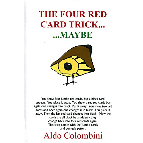 MMS Four Red Card Trick by Wild-Colombini Magic Trick