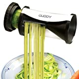 Ouddy Stainless Steel Spiral Slicer - Best Julienne Spiral Cutter for Various Veggies such as Zucchini, Paderno & Carrots