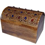 Wood Jewellery Boxes Chest Handmade from India Mother Giftsby ShalinCraft
