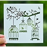 Bird Cage Stencil - 1 Piece DIY Crafts Bird Cage Layering Stencil for Painting Scrapbooking Embossing Gift Paper Cards Template Scrapbooking Tool