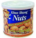 KHAO SHONG Cashewnüsse mit Honig über-, backen und geröstet, 6er Pack (6 x 140 g Dose)