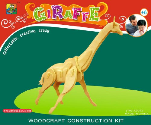 Puzzled Giraffe 3D Natural Wood Puzzle