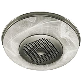 broan nutone round bath fan and heater with light 9093wh