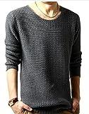 (アルファーフープ) α-HOOP メンズファッション きれいめ カジュアル ストリート インナー 長袖 丸首 トップス M ~ XL 大きいサイズ も TOP2 (06.深灰(XL))