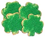 Scott's Cakes Shamrock Cookie with Green Sugar in a Decorative Mini Tin