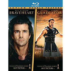Click to buy Mel Gibson Movies: Braveheart / Gladiator from Amazon!