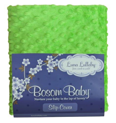 Luna Lullaby Bosom Baby Nursing Pillow Slip Cover, Lime Dot