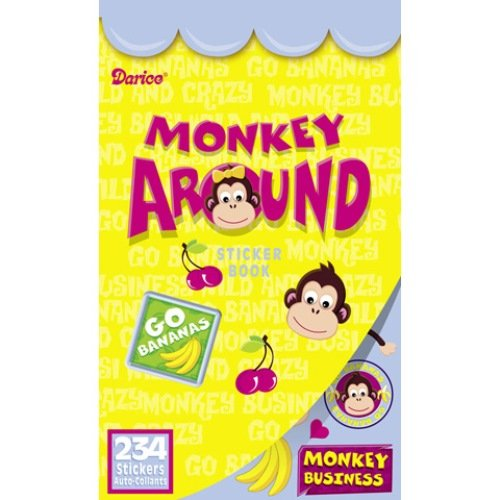 WeGlow International Monkey Around Sticker Books, Set of 4