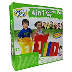LOADS of FUN & KIDS GROUP ACTIVITY - Outdoor 4 in 1 Fun Games - Fun with Friends