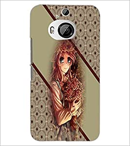 PrintDhaba Cute Girl D-2707 Back Case Cover for HTC ONE M9 PLUS (Multi-Coloured)