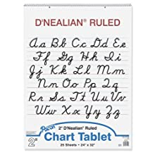 D'Nealian Chart Tablets, 24 x 32 Inches, 25 Sheets (0074740)
