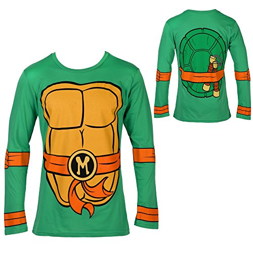 Teenage Mutant Ninja Turtles Michaelangelo Costume Longsleeve Adult T-Shirt