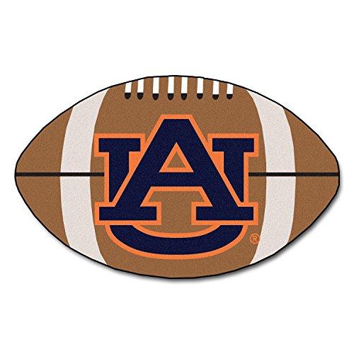 FANMATS NCAA Auburn University Tigers Nylon Face Football Rug