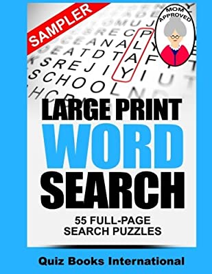 Large Print Word Search Sampler: A Sampling Of Our Word Search Puzzles