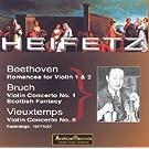 beethoven : romances pour violon n�1, n�2 en fa majeur op.50 - bruch : concerto pour violon n�1, fan