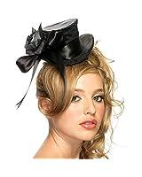 Satin Mini Top Hat in Black, Red or White Costume Accessory