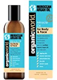 Organic World Argan Oil 200ml Multi Action Anti-Wrinkle Moisturising Miracle Oil for Body and Face