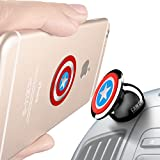 Universal Magnetic Car Mount - For any Phone, GPS or Light Tablet | Stylish Black Chrome One Hand & One Sec Holder, +100 to Safeness & Comfort