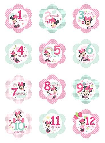 Kids Preferred Disney Milestone Flower Stickers, Minnie Mouse
