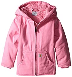 Carhartt Little Girls\' Redwood Comfort Jacket, Pink, 2T