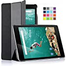 IVSO  Google Nexus 9 Case - Ultra-Lightweight Slim Smart Cover Case with Auto Sleep/Wake Function -(Lifetime warranty)-Will only fit HTC Nexus 9 & Google Nexus 9 8.9-inch (2014 Release) Tablet (Black)
