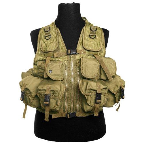 Military Patrol Tactical Assault Vest 9 Pockets Airsoft Combat Forces Coyote Tan