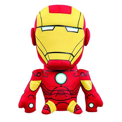 Underground Toys AVG02313 - Peluche di Iron Man, con effetti sonori, serie Marvel, misura media 17 cm