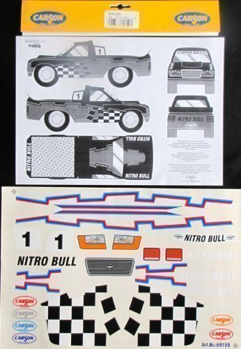 Dekorbogen Carson 1:10 Nitro Bull Decor Aufkleber 69159 Stadium Truck Monster
