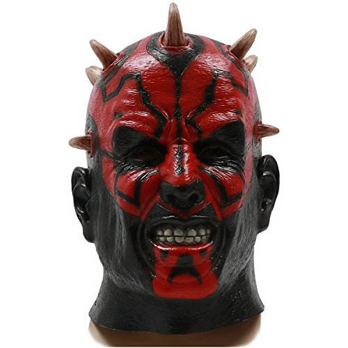 Darth Maul Maske Helm Halloween Cosplay Kostüm Latex Erwachsene Maske Costume
