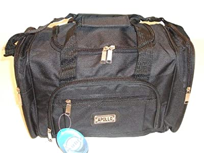 "15"" Mens Sports Gym Holdall Onboard Flight Cabin Bag Black from Apollo"