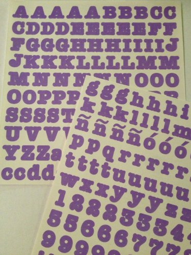 ABC/123 Stickers: Lavendar/Purple Original Letters - 1