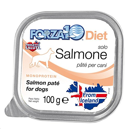FORZA 10 Forza10 diet solo salmone 100gr - Alimenti umidi monoproteici per cani