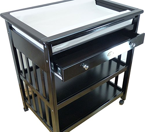 Baby Changing Table + Baby Changing Pad (Espresso)