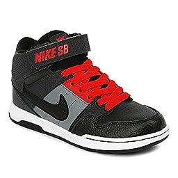 Nike Kids\' Mogan Mid 2 JR B Skate Shoes Anthracite/Black/Red US 5.5Y