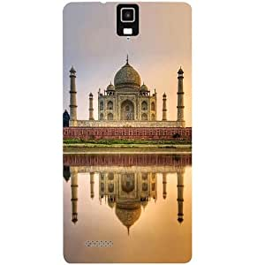 Casotec Taj Mahal Design Hard Back Case Cover for Infocus M330