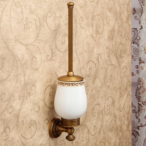 Ouku Wall Mount Lavatory Bath Shower Accessories Bath Accessory Set, Antique 5 Piece Anodizing Aluminum Hardware Set Bathroom Robe Hooks front-850701