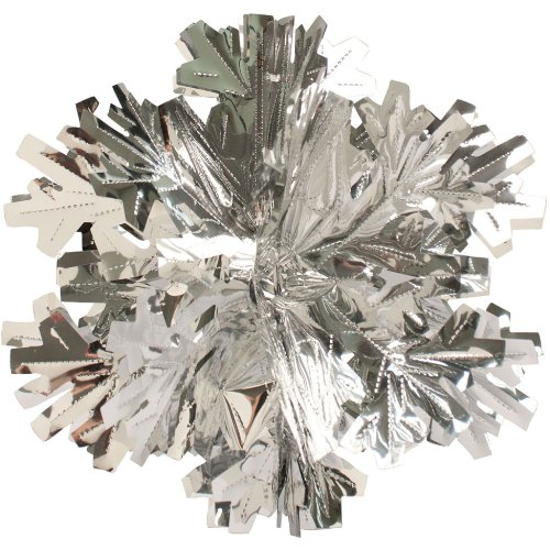 "Creative Converting Glitz Silver Hanging Décor 16"" Dimensional Winter Snowflake"